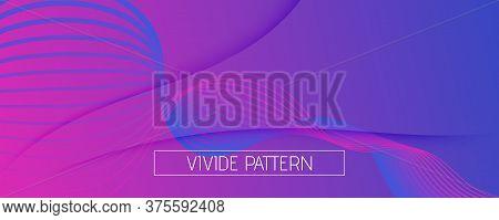Purple Fluid Stripes. Business Concept. Abstract Gradient Movement. Memphis Wave Pattern. Fluid Stri