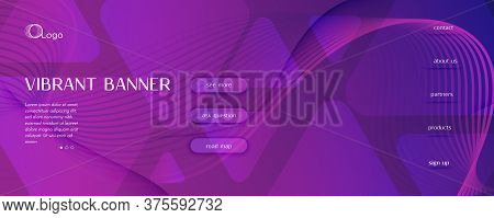 Fluid Background. Abstract Flow Lines Landing Page. Vector Dynamic Banner. Color Minimal Template. P