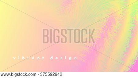 Abstract Color Liquid. Wave Concept. Pastel Graphic Movement. Vector Futuristic Shape. Bright Motion