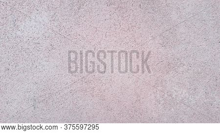 Water Proof Cement Plastered Rough Wall Closeup Background
