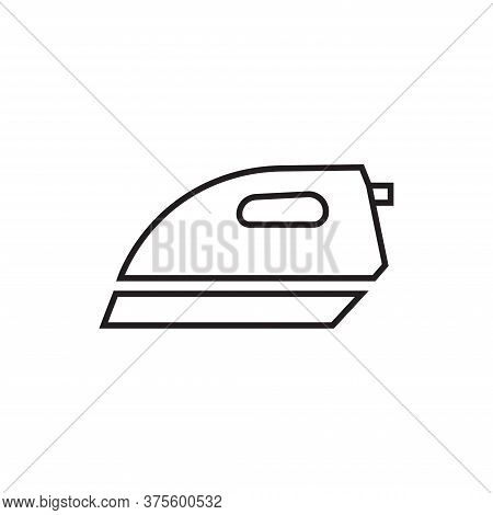 Iron Icon Isolated On White Background. Iron Icon In Trendy Design Style For Web Site And Mobile App