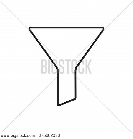 Funnel Icon Isolated On White Background. Funnel Icon In Trendy Design Style For Web Site And Mobile