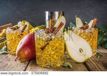 Pear Cider Cocktail With Spices