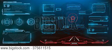 Hud, Ui, Gui Futuristic Frame User Interface Screen Elements Set. Set Of Futuristic Vector Pop-up Sc