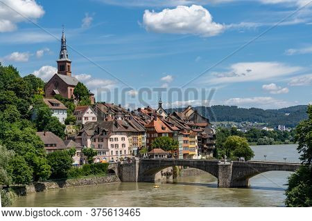 View Of The Picturesque Town Of Laufenburg On The Rhine