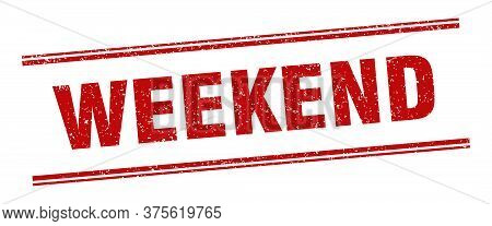 Weekend Stamp. Weekend Label. Square Grunge Sign