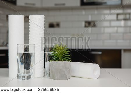 Glass Of Water In A Modern Kitchen