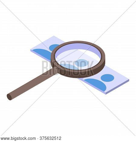 Headhunter Magnifier Cv Icon. Isometric Of Headhunter Magnifier Cv Vector Icon For Web Design Isolat