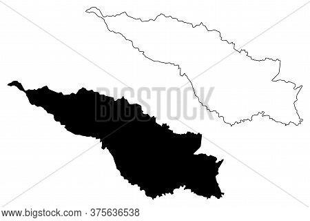 San Jose City (republic Of Costa Rica) Map Vector Illustration, Scribble Sketch City Of San Jose Map