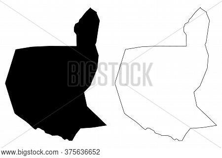 Villa Nueva City (republic Of Guatemala) Map Vector Illustration, Scribble Sketch City Of Villa Nuev
