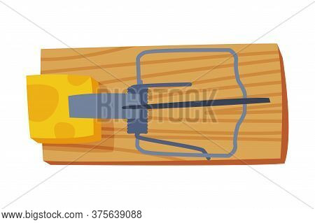 Mousetrap, Pest Control And Extermination Equipment Vector Illustration On White Background