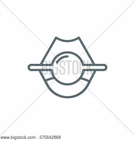 Ball Gag Vector Icon Symbol Isolated On White Background