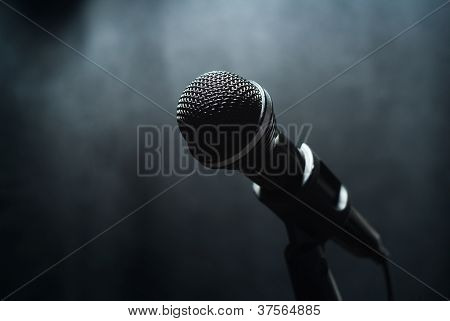 Microphone In The Fog