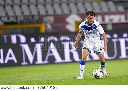 Torino (italy) , 08th July 2020. Italian Serie A.  Alfredo Donnarumma  Of Brescia Calcio  During The