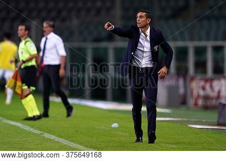 Torino (italy) , 08th July 2020. Italian Serie A. Moreno Longo, Head Coach Of Torino Fc,   During Th