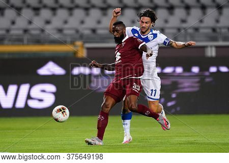 Torino (italy) , 08th July 2020. Italian Serie A. Nicolas N\\\\\\\'koulou Of Torino Fc    During The