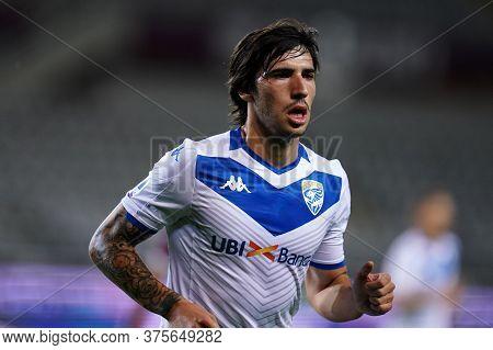 Torino (italy) , 08th July 2020. Italian Serie A.  Sandro Tonali  Of Brescia Calcio  During The Seri