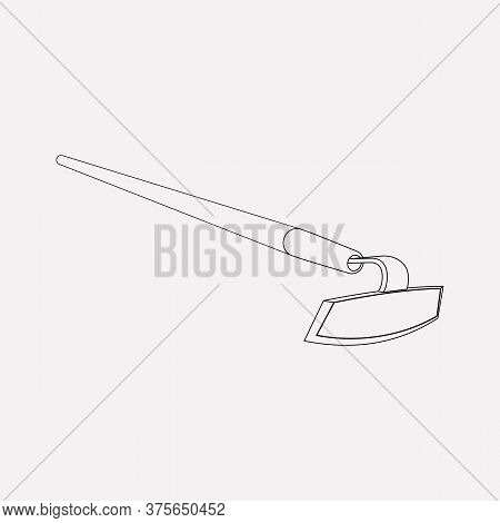 Hoe Icon Line Element. Vector Illustration Of Hoe Icon Line Isolated On Clean Background For Your We