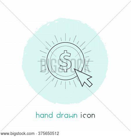 Pay Per Click Icon Line Element. Vector Illustration Of Pay Per Click Icon Line Isolated On Clean Ba