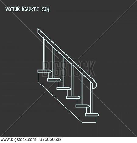 Stairs Icon Line Element. Vector Illustration Of Stairs Icon Line Isolated On Clean Background For Y