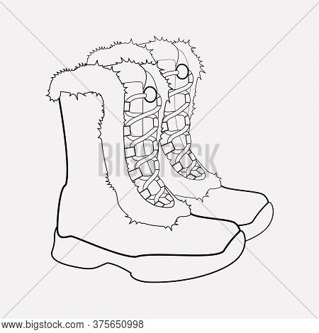 Insulated Boots Icon Line Element. Vector Illustration Of Insulated Boots Icon Line Isolated On Clea