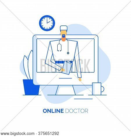Online Healthcare Concept, Doctor Surgeon Specialist Consultation