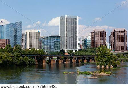 Richard Virginia Skyline Over James River