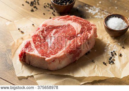 Raw Grass Fed Ribeye Steak