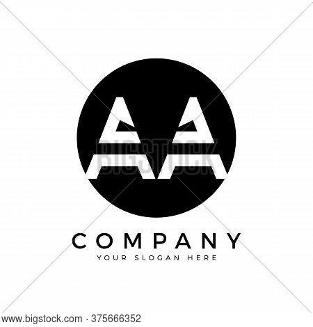 Aa Logo Design Business Typography Vector Template. Creative Linked Letter Aa Logo Template. Aa Font