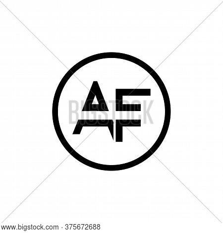 Af Logo Design Business Typography Vector Template. Creative Letter Af Logo Vector