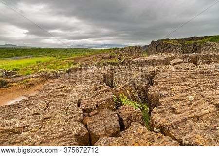 View Of The Rift Valley That Marks The Crest Of The Mid-atlantic Ridge And The Boundary Between The