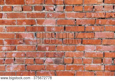 A Retro Old Red Brick Wall Background Backdrop