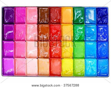 Box Of Poster Colors (top View)
