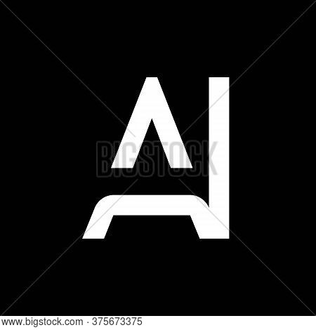 Ai Logo Design Business Typography Vector Template. Creative Linked Letter Ai Logo Template. Ai Font