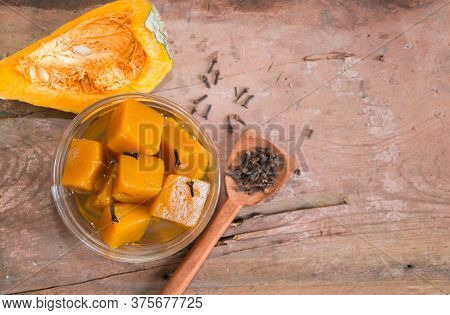 Squash In Syrup With Cloves. Traditional Dessert Of Argentine Gastronomy