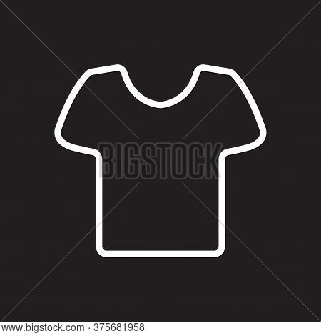 T Shirt Icon Flat Vector Illustration For Graphic And Web Design.