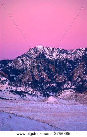 Flatiron Mountains In Boulder At Sunrise