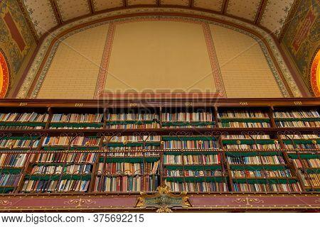 Amsterdam, Netherlands - March 7, 2020: Interior Of Rijksmuseum Library In Amsterdam