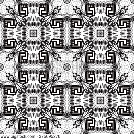 Patchwork Seamless Pattern. Vector Ornamental Background. Tribal Ethnic Style Repeat Backdrop. Geome