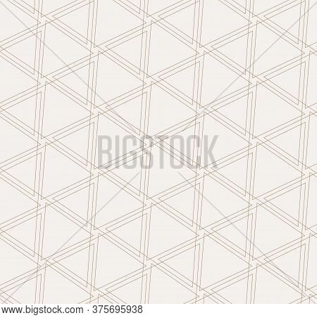 Repetitive Elegant Graphic Symmetrical, Decoration Pattern. Repeat Linear Vector Triangle Tile Textu