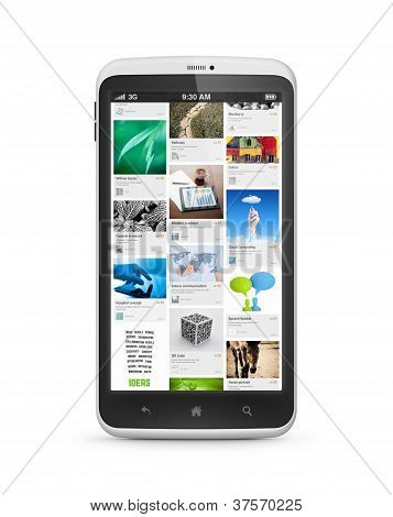 Social Media Application On Mobile Smartphone