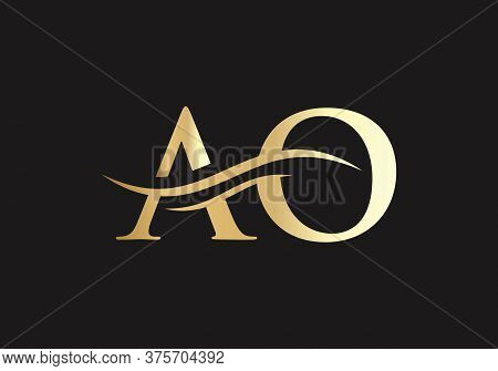 Initial Ao Letter Logo With Creative Modern Business Typography Vector Template.