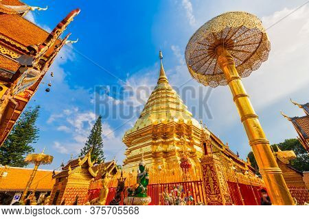 Wat Phra That Doi Suthep Is A Buddhist Temple Is A Major Tourist Attraction Is An Ancient Thai Art A