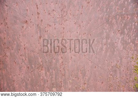 Conceptual Old Painted Green Wooden Background. Advertising Space Wooden Rough Surface