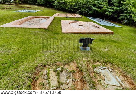 Concrete Impressions Of Ancient Structures Unearthed At Prehistoric Archeological Site In Daejeon, K