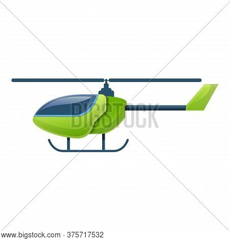 Helicopter Toy Remote Control Icon. Cartoon Of Helicopter Toy Remote Control Vector Icon For Web Des