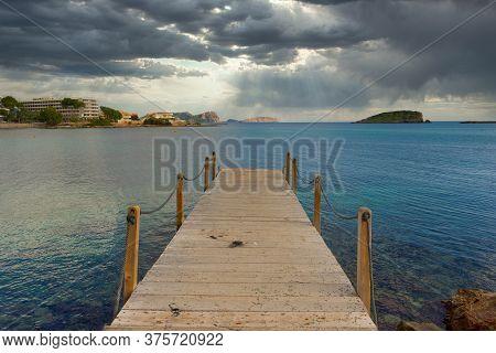 The Coast Of Des Canar In Ibiza, Balearic Islands