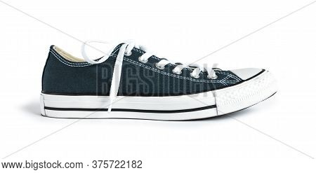Blue Generic Sneaker Isolated On White Background
