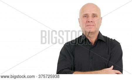 Businessman Presentation In A Company Interview, Businessperson Image Wearing A Casual Black Shirt
