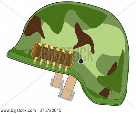 Defensive Helmet Of The Military Colour Camouflage